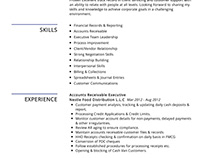 Accounts Receivable Resume Example
