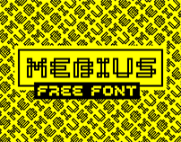 MEBIUS. Display typeface. Free
