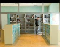 Verbum museo. Realización de biblioteca y terraza.