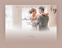 Kalium Wedding — One page site for your wedding
