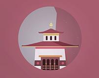 Tiger's Nest, Bhutan Illustration 01