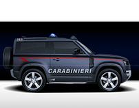 2020 Land Rover Defender Carabinieri Police