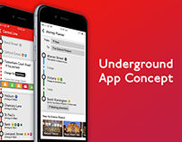 London Underground App Concept (Real Pixels)