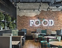Charlie Pizza restaurant by In Arch