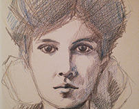 Vintage sketch portrait