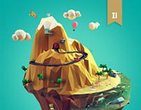 Lowpoly mountain
