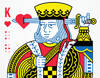 King of Hearts Playing Card Design