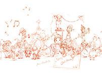 An elf per day - Christmascalendar sketchbook