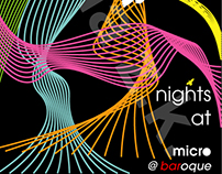 Nights at Micro party flyer