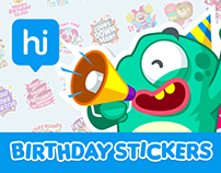 Birthday Special - Stickers for Hike Messenger