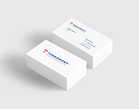 Termomont business cards. Rebranding