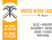 United Work Carpenters Business Card