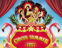 Circus Summer Fest poster (Ilir bar)