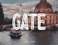 Gate - Free Hand Drawn Font