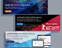 Various Corporate Site Heroes | Aspera