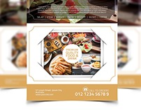 Food Menu Flyer Template Design #2