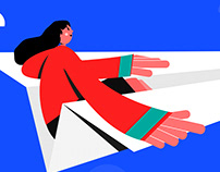 #Motion Graphics #Girl on Paper Plane