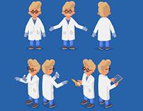 Isometric character design set