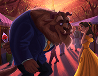 First Date: A Beauty and the Beast Fanart