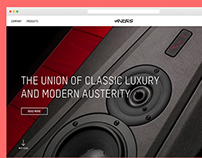 Audes Loudspeakers webpage development