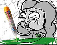 Irmão do Jorel - Caneta 250 cores (Storyboard)