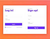 Log In & Sign Up Form Ui 2018