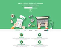 Webpage Design - Parallax www.cakevamp.com