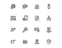 Cyber Crime Icons Set