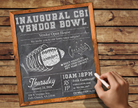 CSI Football Themed Vendor Day Invitation
