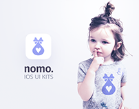 Nomo. UI Mobile Kit With Wireframe and Animations