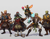 D&D Characters: Painted