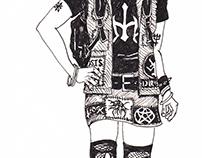 Cyberpunk-Goth Girl