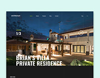 Dark Luxury Architecture UI Design