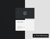 Minimalist Business Card Mockup Bundle - Free Download