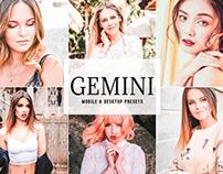Free Gemini Mobile & Desktop Lightroom Presets