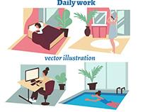 Vector flat Illustration