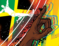 Usain Bolt (fastest man on earth) ~ Ed. illustration