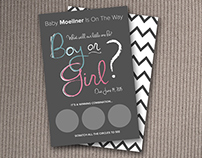 Gender Reveal Scratch Off Card