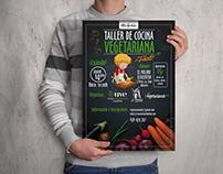 Poster Taller de Cocina - Unión vegetariana Española.