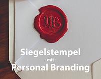 Siegelstempel mit Personal Branding