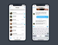 iOS iPhone X - Chat Dashboard & Chat View