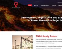 Web design for TNB Liberty Power