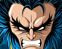 Wolverine unmasked ver. art print