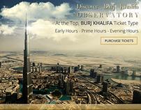 Burj Khalifa Ticket Banner - Concept
