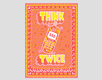 Think Twice Risograph Print