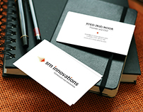 Logo and business card for srn innovations