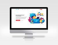 UI/UX design for designaas.com