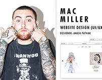 Mac Miller : Website Design (Ux/Ui)