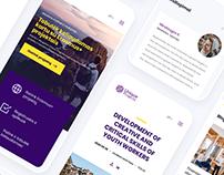 Youth platform UX/UI design for Unique Projects