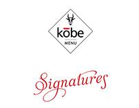 KOBE // MENU DESIGN